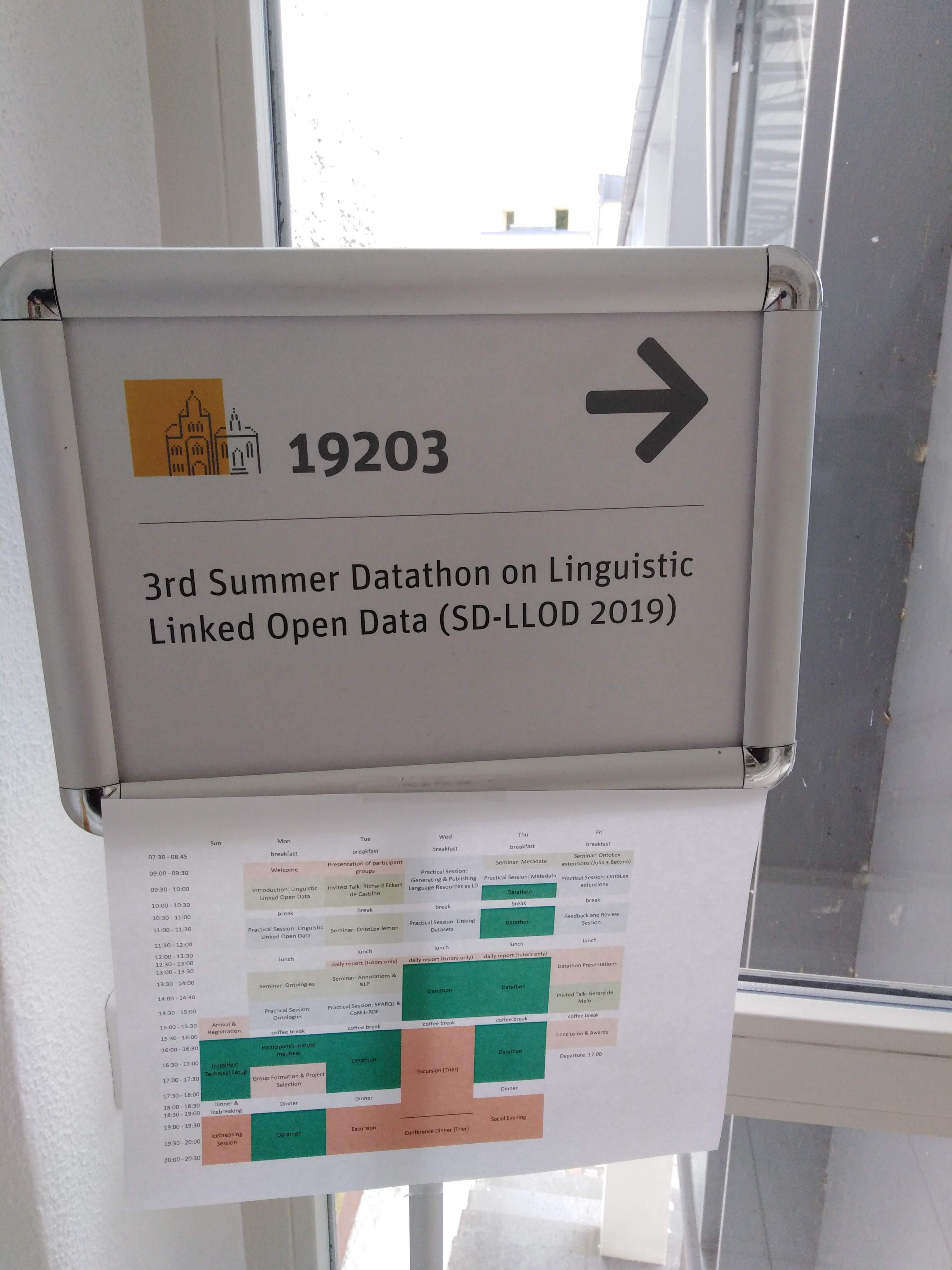 3rd Summer Datathon on Linguistic Linked Open Data