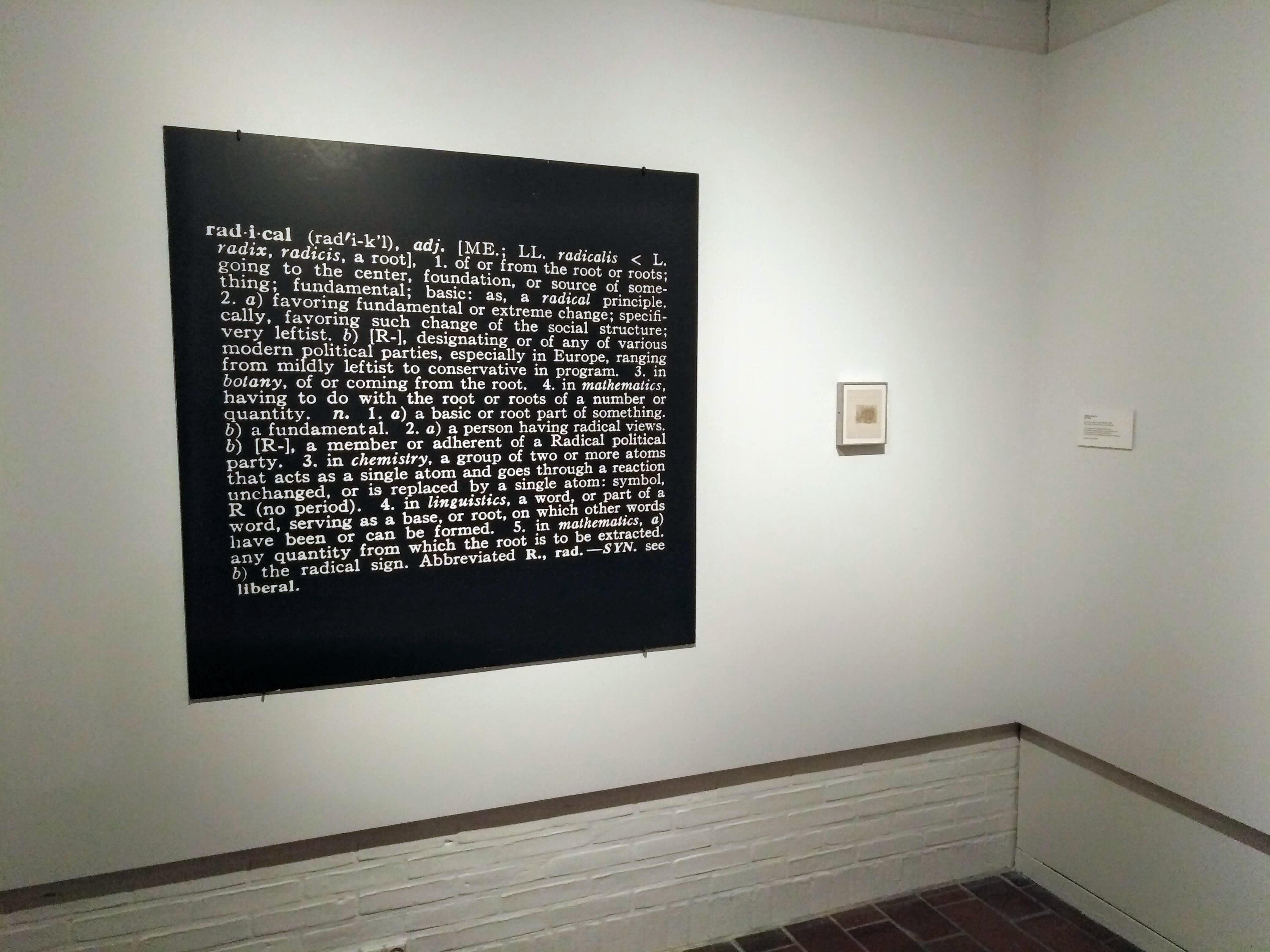 Joseph Kosuth's Art as Idea as Idea work, Radical at Louisiana museum